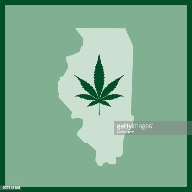 illinois state marijuana map - hashish stock illustrations, clip art, cartoons, & icons