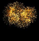 Illuminated Festive Firework, Glowing Holiday Background