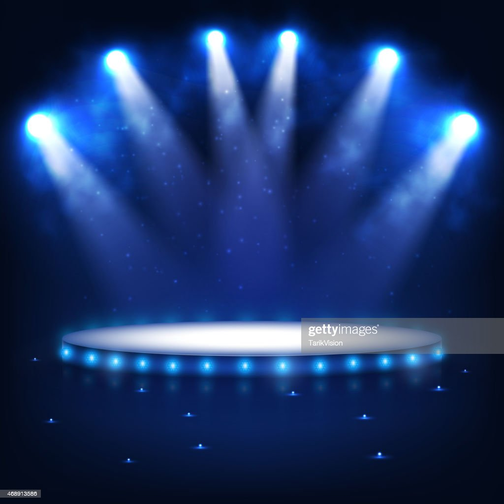 Illuminated Podium for Presentation in the Dark.