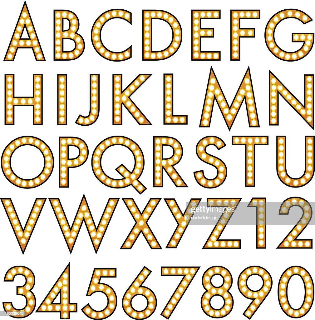 illuminated sign alphabet Marquee