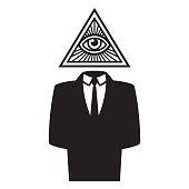 Illuminati conspiracy illustration