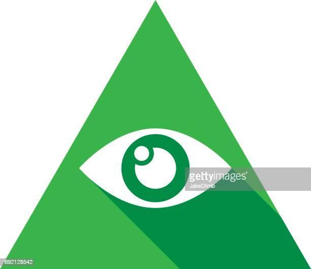 Illuminati Eye Icon Silhouette