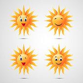 Illusration of sun for Summer season background