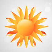 Illusration of sun for Summer season background