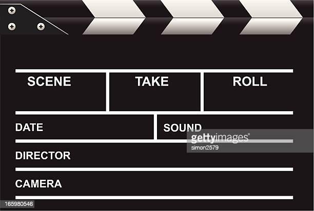Illustrated blank movie blackboard