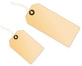 Illustrated blank paper tags