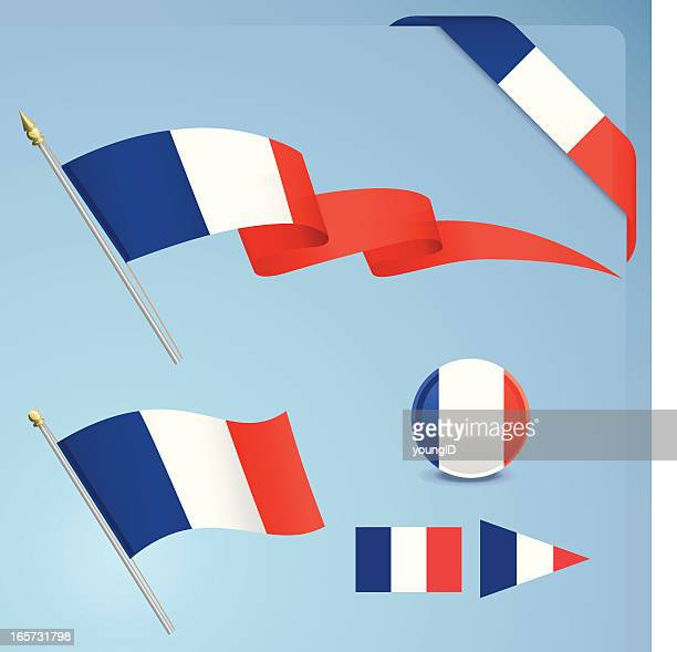 Illustrated icons for the French flag