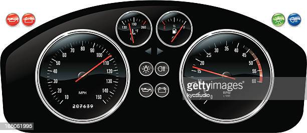 Illustrated photo is a car dashboard