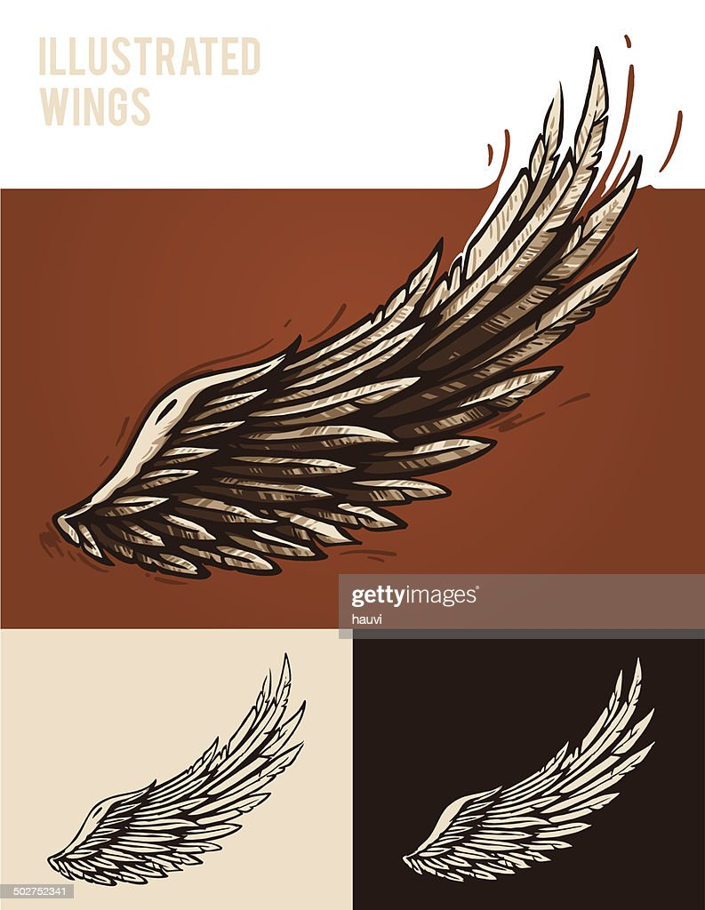 Illustrated wings