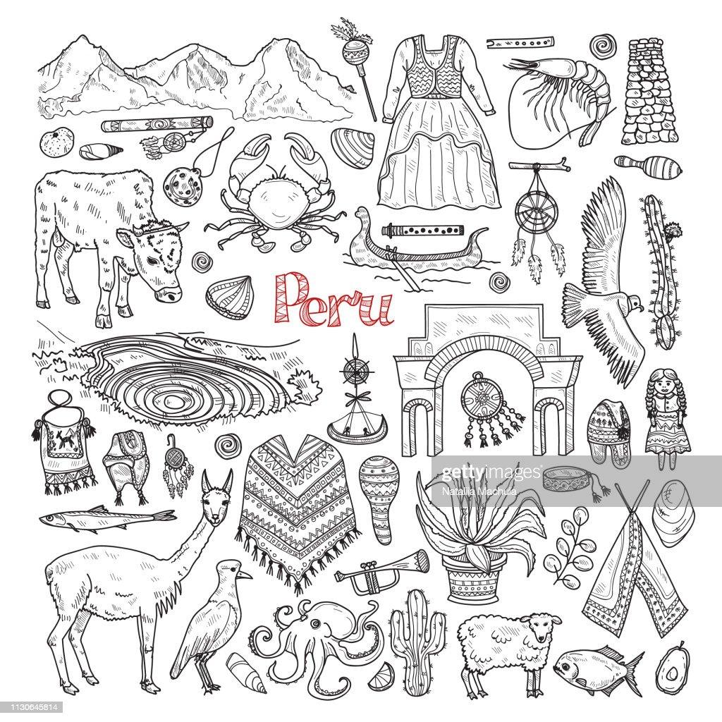 Illustration about Peru