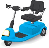 Illustration accessory wheelchair object, electric or motorized