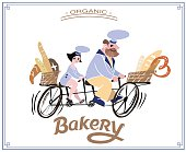Illustration and calligraphy logo - Bakery