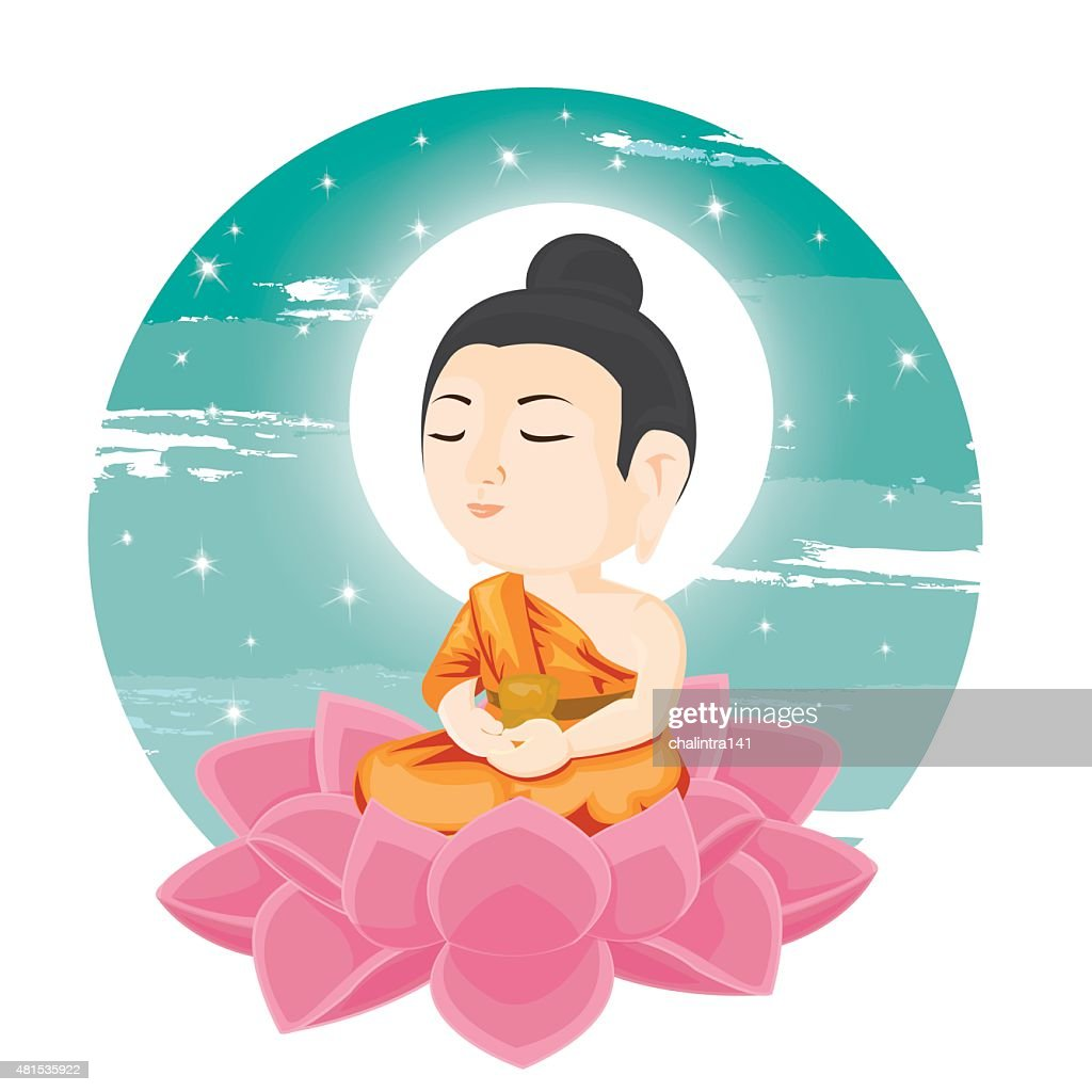 Illustration buddha sitting on lotus flower vector art getty images buddha sitting on lotus flower vector art izmirmasajfo