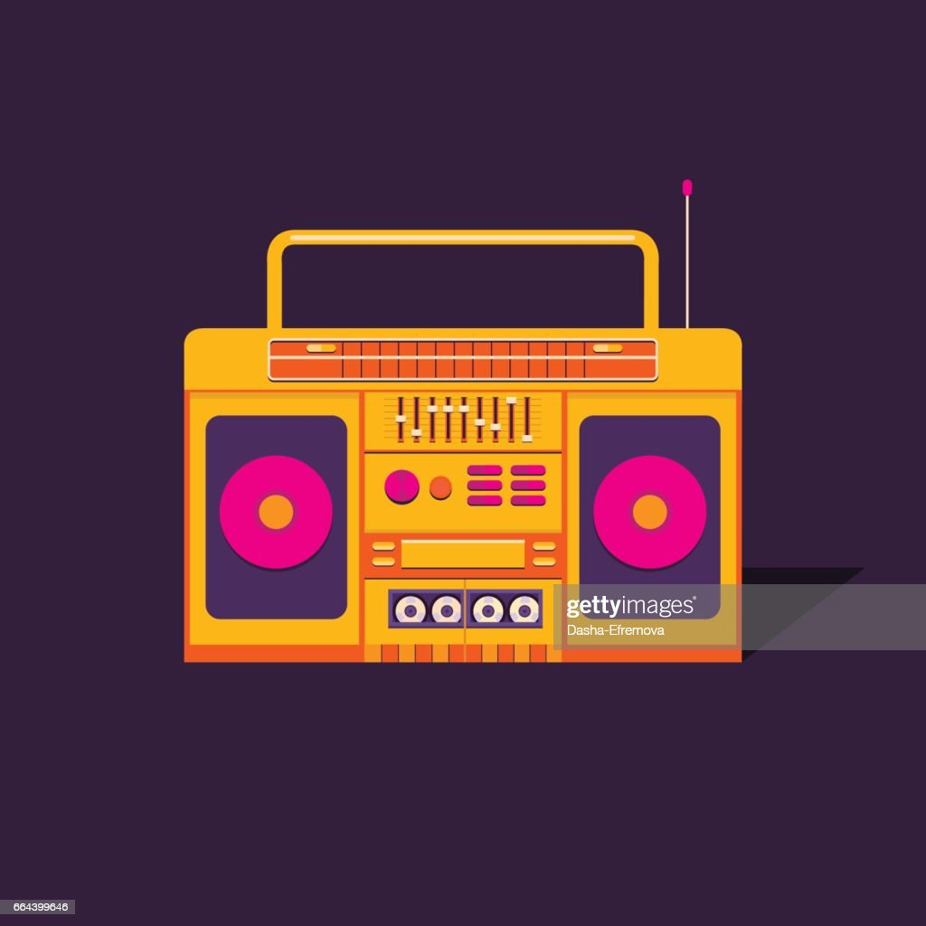 Illustration cassette tape recorder.