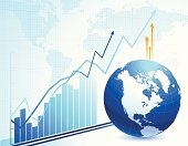 Illustration concept design of global business and economy