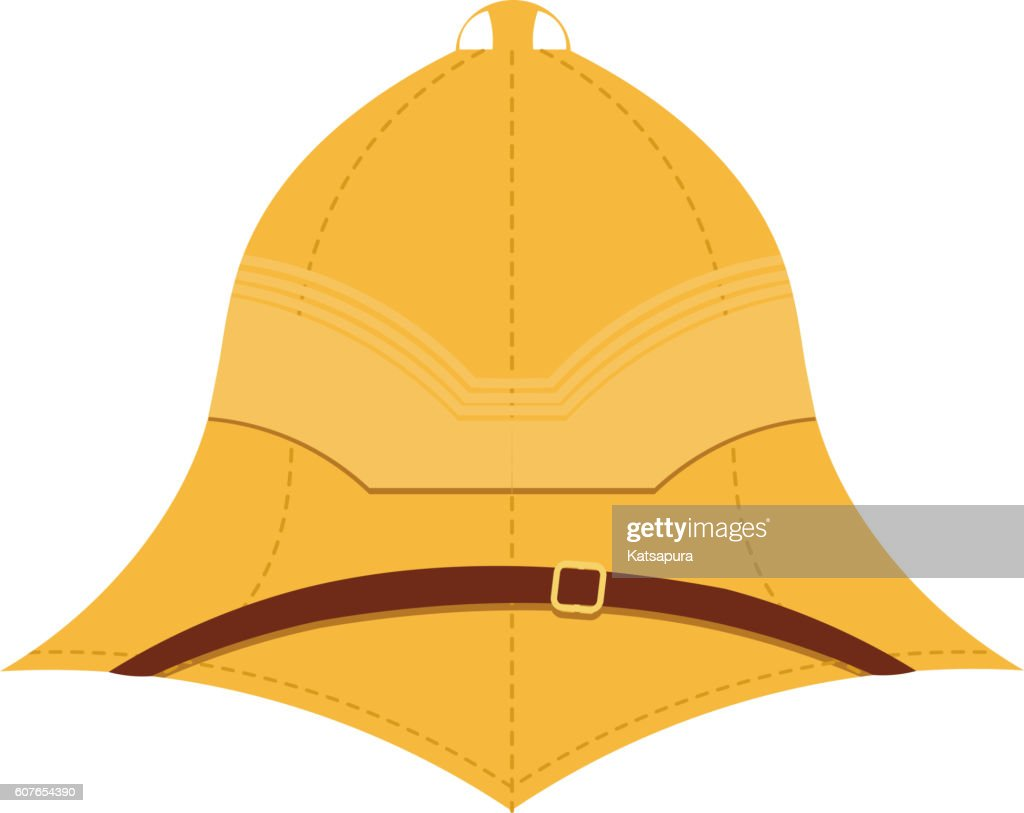 Illustration cork helmet on a white background.Isolate.Element