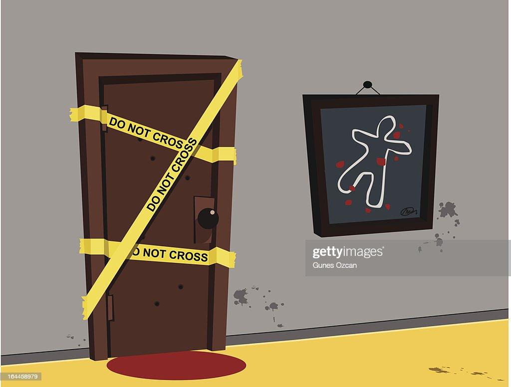 Illustration Crime Scene Investigation