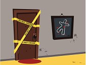 Illustration Crime Scene Investigation