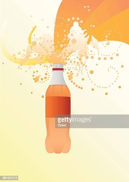illustration fizzy bottle - soda bottle stock illustrations