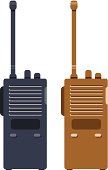 2D illustration for black and brown walkie talkie
