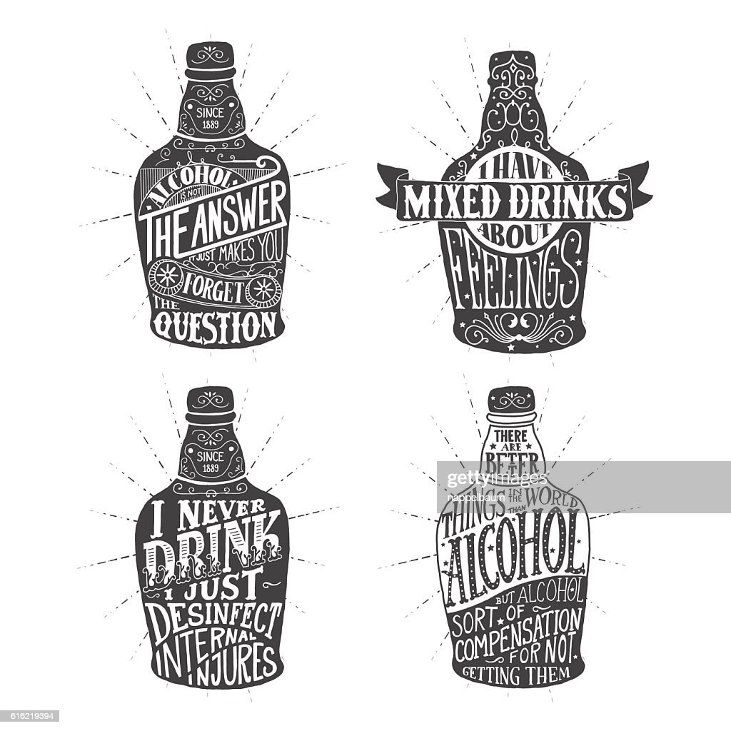 illustration for design of alcohol drink : Vector Art