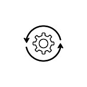 Illustration for downloads or settings vector icon
