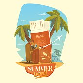 Illustration for Summer travel.