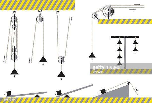 滑車セット - 滑車点のイラスト素材/クリップアート素材/マンガ素材/アイコン素材