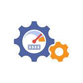 Illustration icon for engine performance