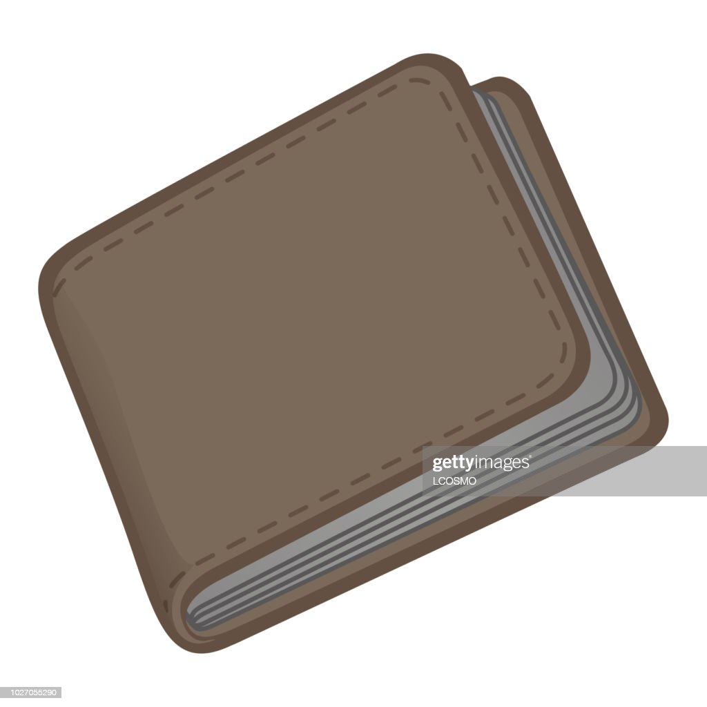 Illustration icon of a male leather wallet. Ideal for catalogs and infographics