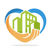 illustration icon with the concept of urban environmental care