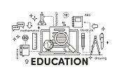 Illustration linear Education