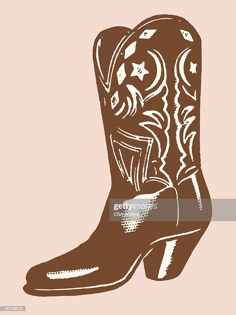 A illustration of a brown cowboy boot