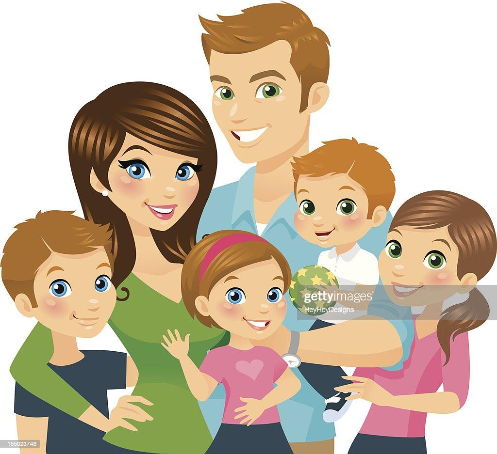 Illustration Of A Cartoon Loving Family High-Res Vector ...