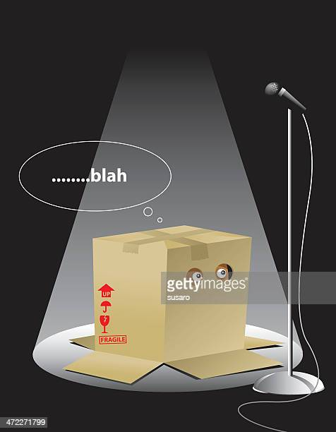 illustration of a creature in a box with the text blah - hidden stock illustrations, clip art, cartoons, & icons