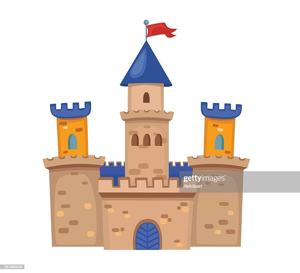 Illustration of a cute medieval Castle.