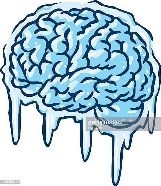 Illustration of a frozen brain