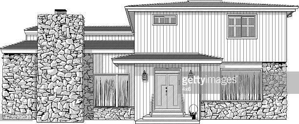 illustrations, cliparts, dessins animés et icônes de illustration d'une maison ou de la - mezzanine