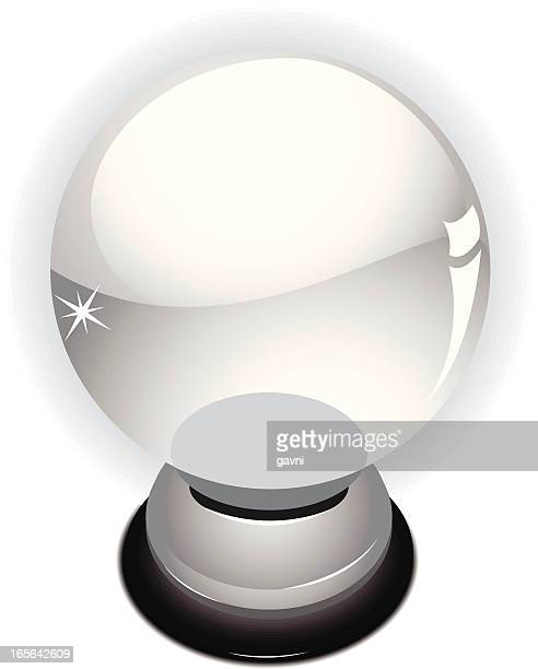 Illustration of a magical divinatory crystal ball