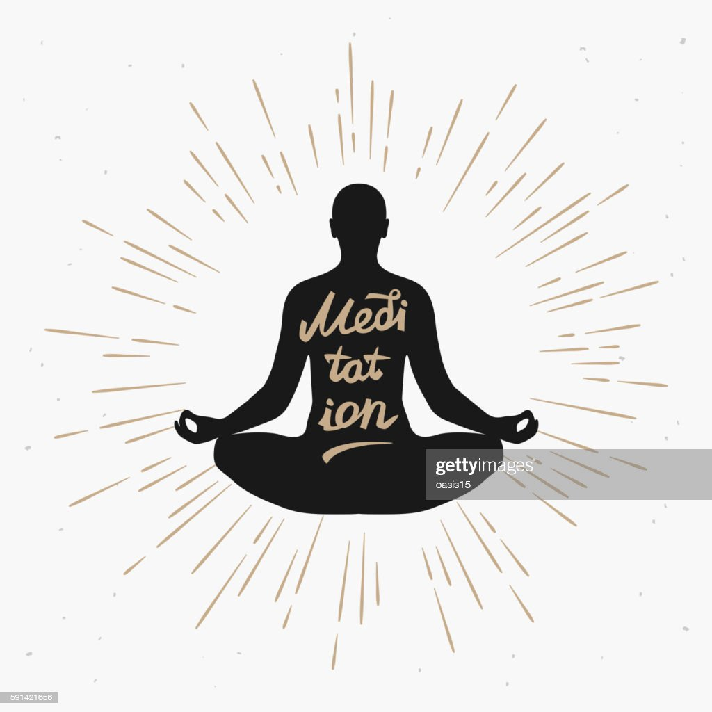 Illustration of a man meditating in the lotus position