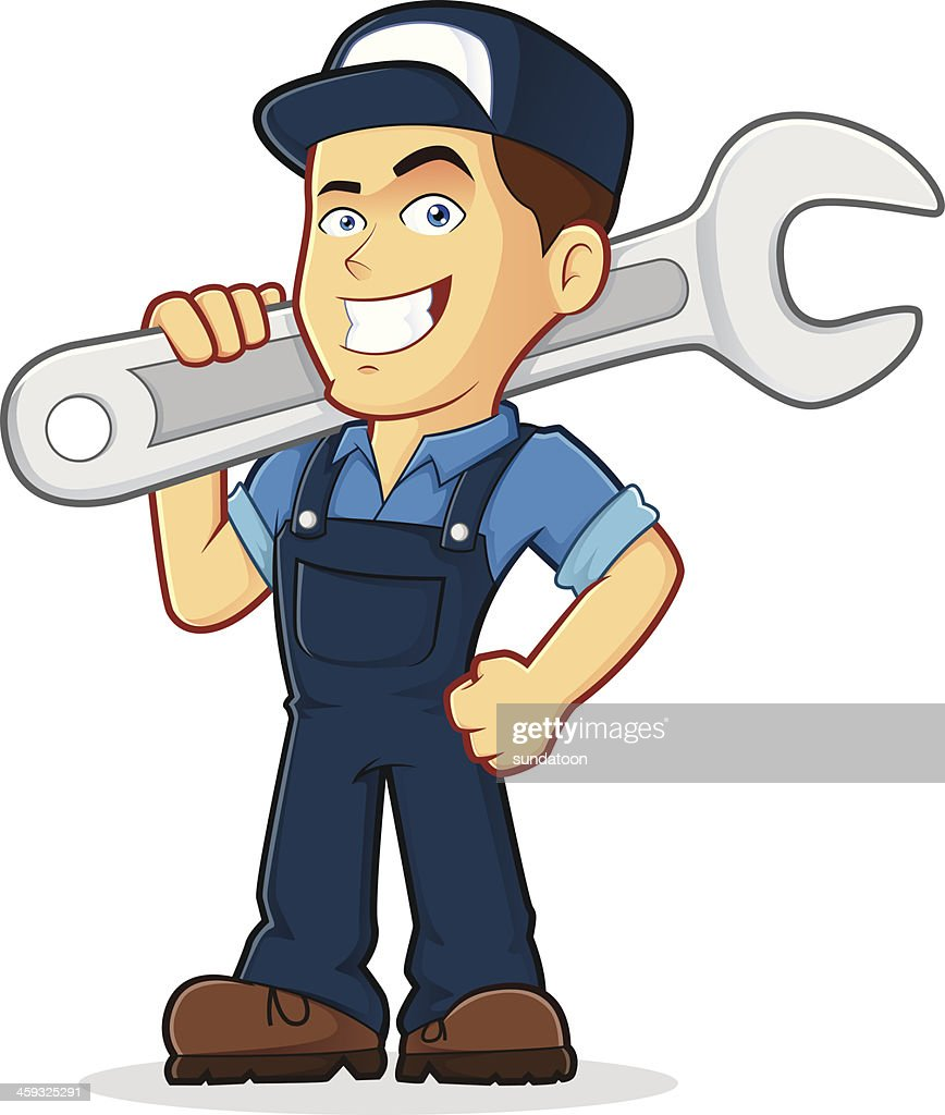 Illustration of a mechanic professional