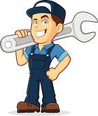 Illustration of a mechanic professional