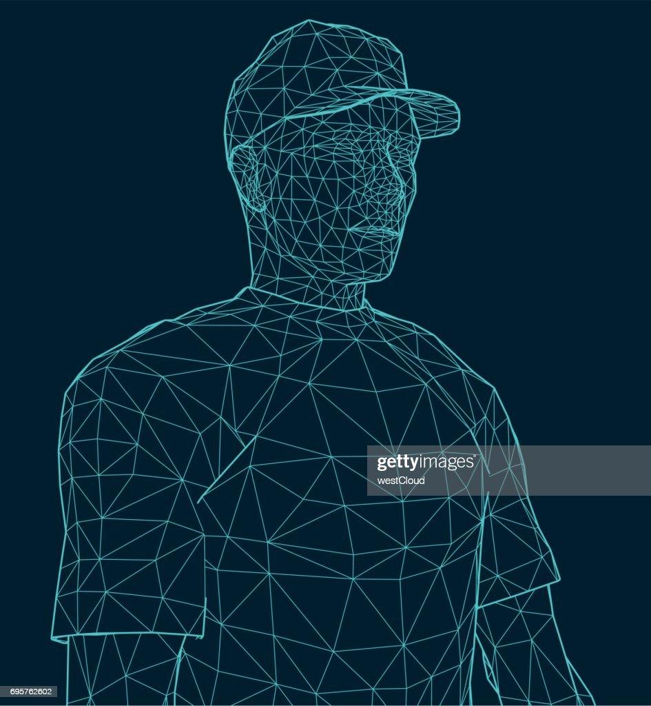 illustration of a men wearing a cap