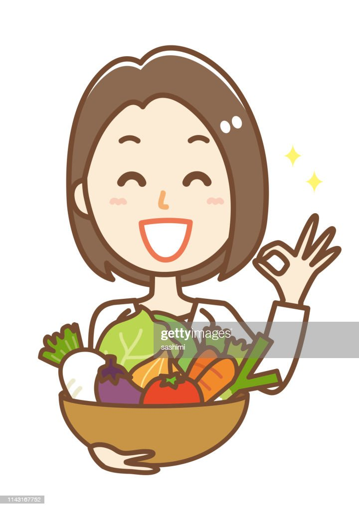 Illustration of a nutritionist woman