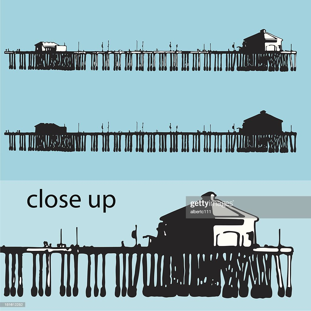 Illustration of a pier