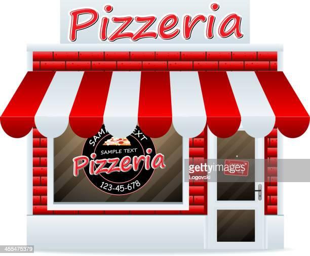 ilustrações de stock, clip art, desenhos animados e ícones de pizzaria - pizzaria