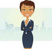 Illustration of a pretty businesswoman