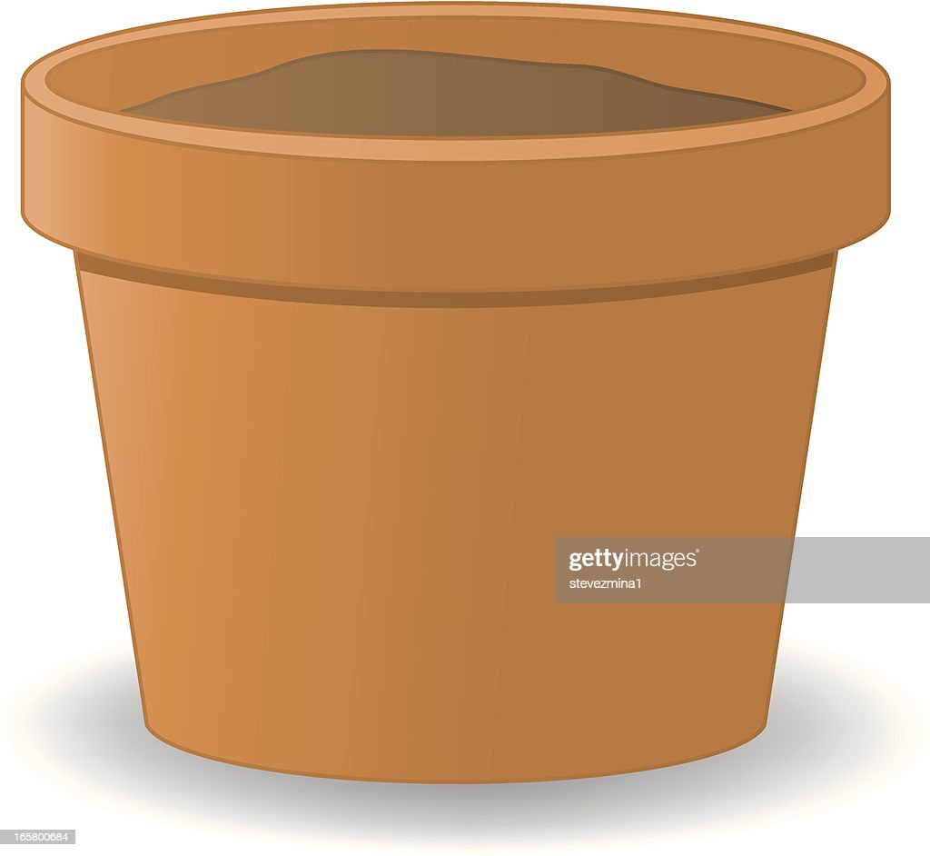 Illustration of a red clay flower pot  sc 1 st  Getty Images & 30 Top Flower Pot Stock Illustrations Clip art Cartoons \u0026 Icons ...