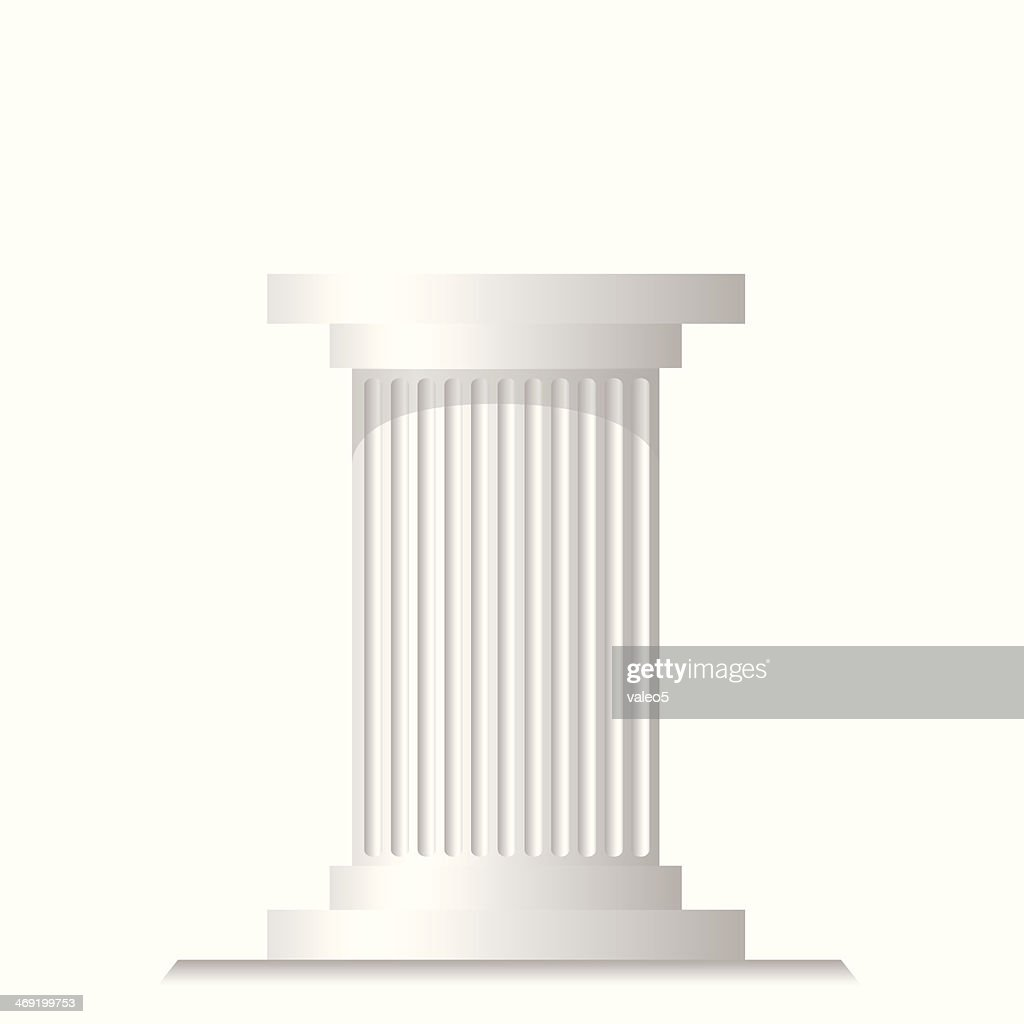 Illustration of a single white ancient column