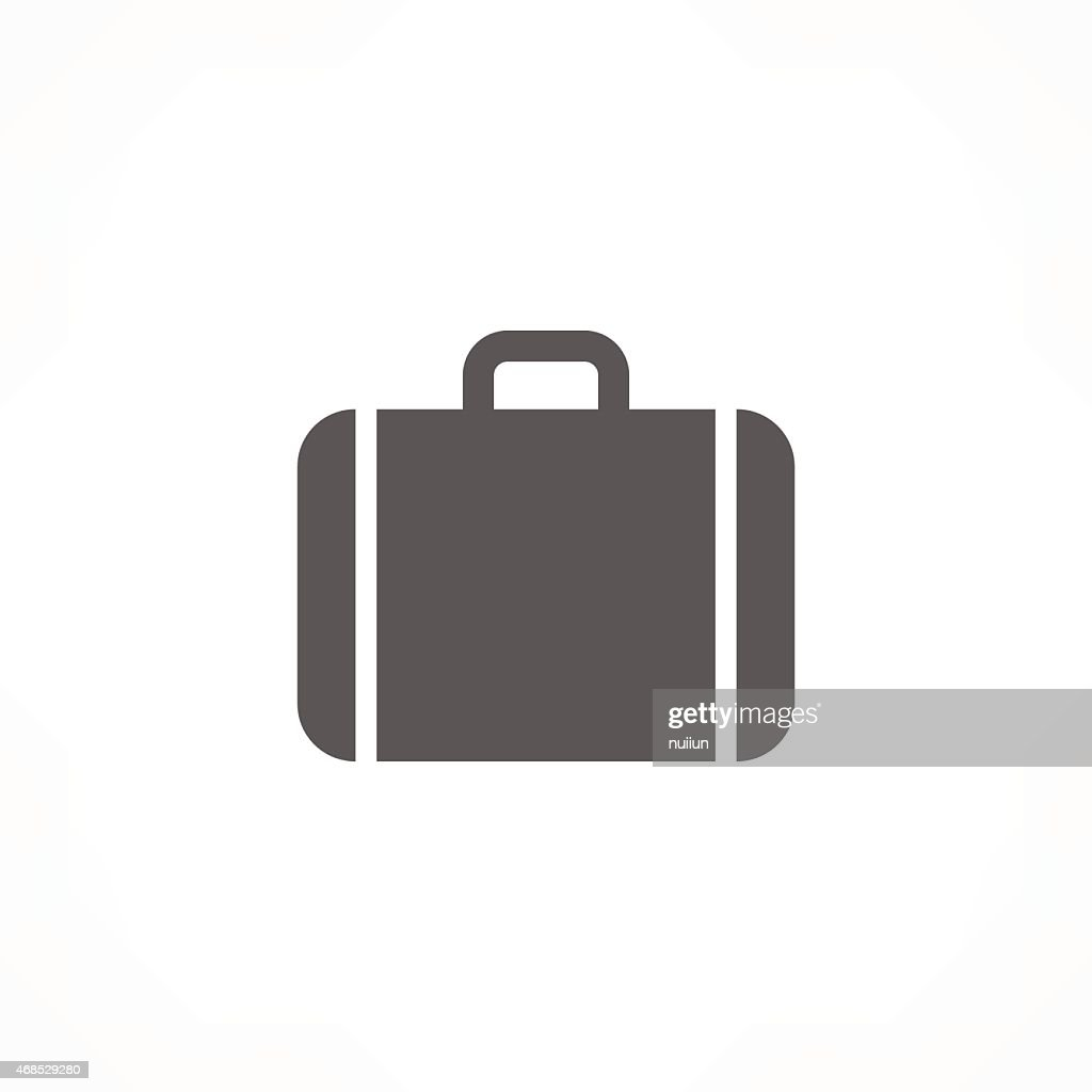 Illustration of a suitcase for airports and road